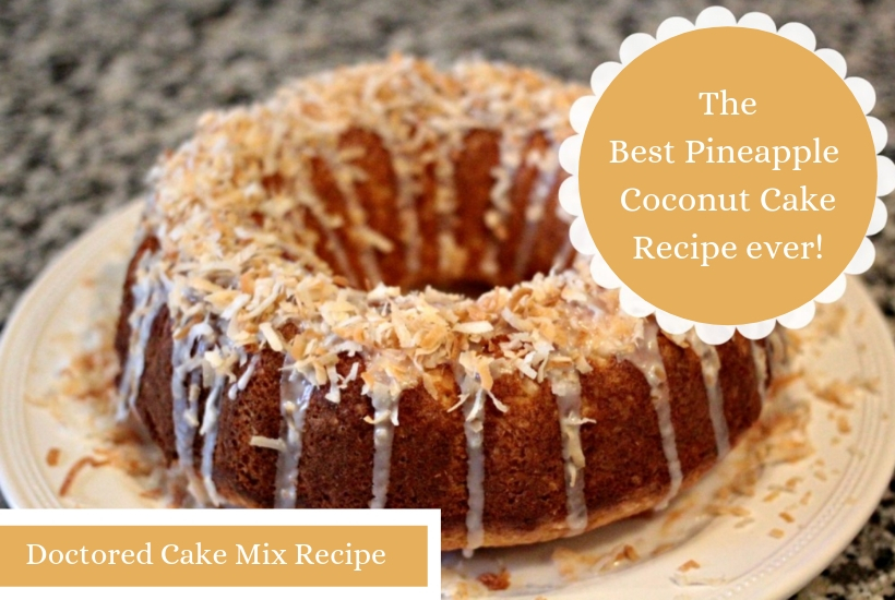 Pineapple coconut cake mix uses a yellow cake mix