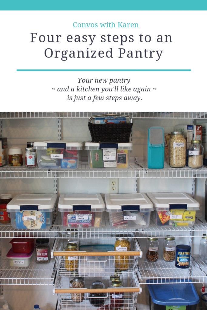 DIY pantry organizing
