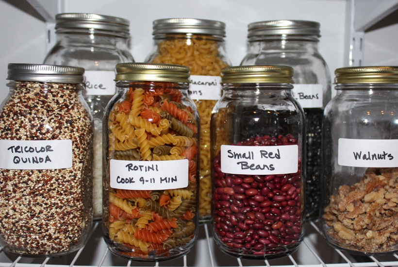 Cheap pantry organization for the frugal family