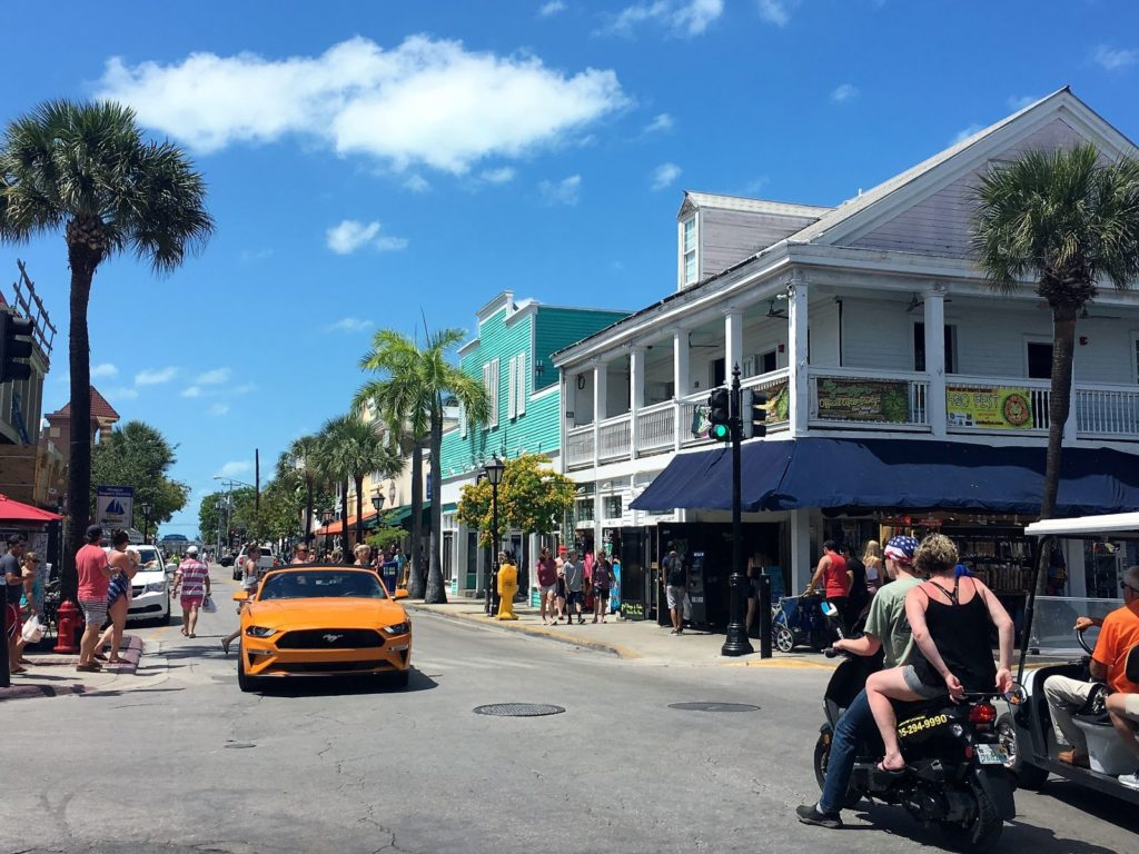 Street view of Key West shopping district, one of the cruise ports on Celebrity
