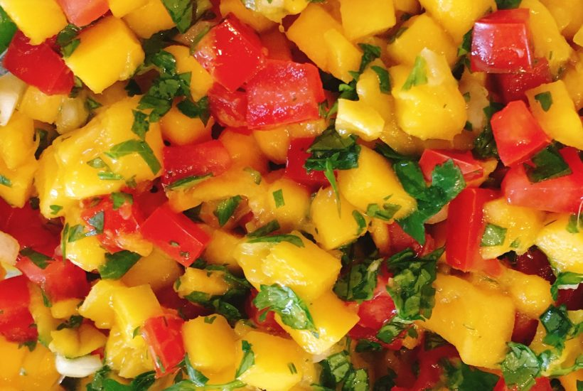 Mango Salsa is best in the summer when mangoes are in season.