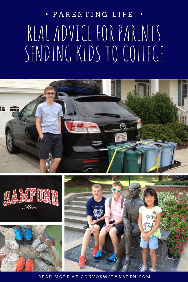 Parenting advice for when sending kids to college for the first time