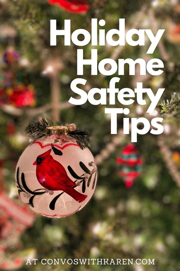 Christmas ornament and lights for holiday home safety