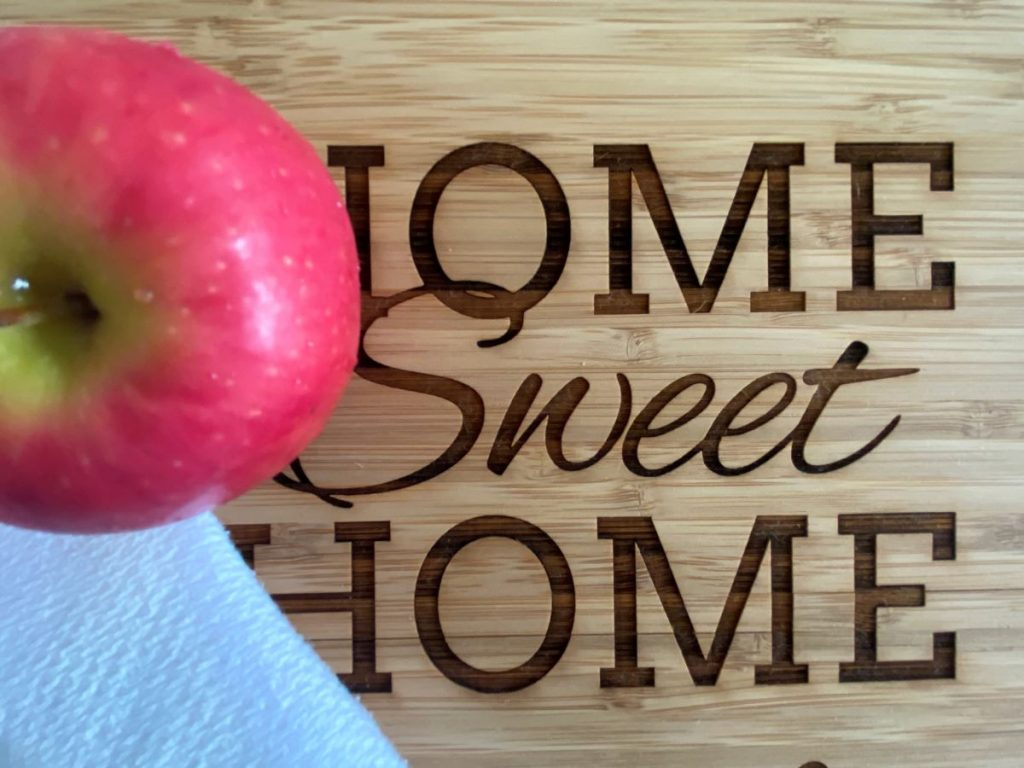 How to fight germs at home -- an apple a day really is good advice!