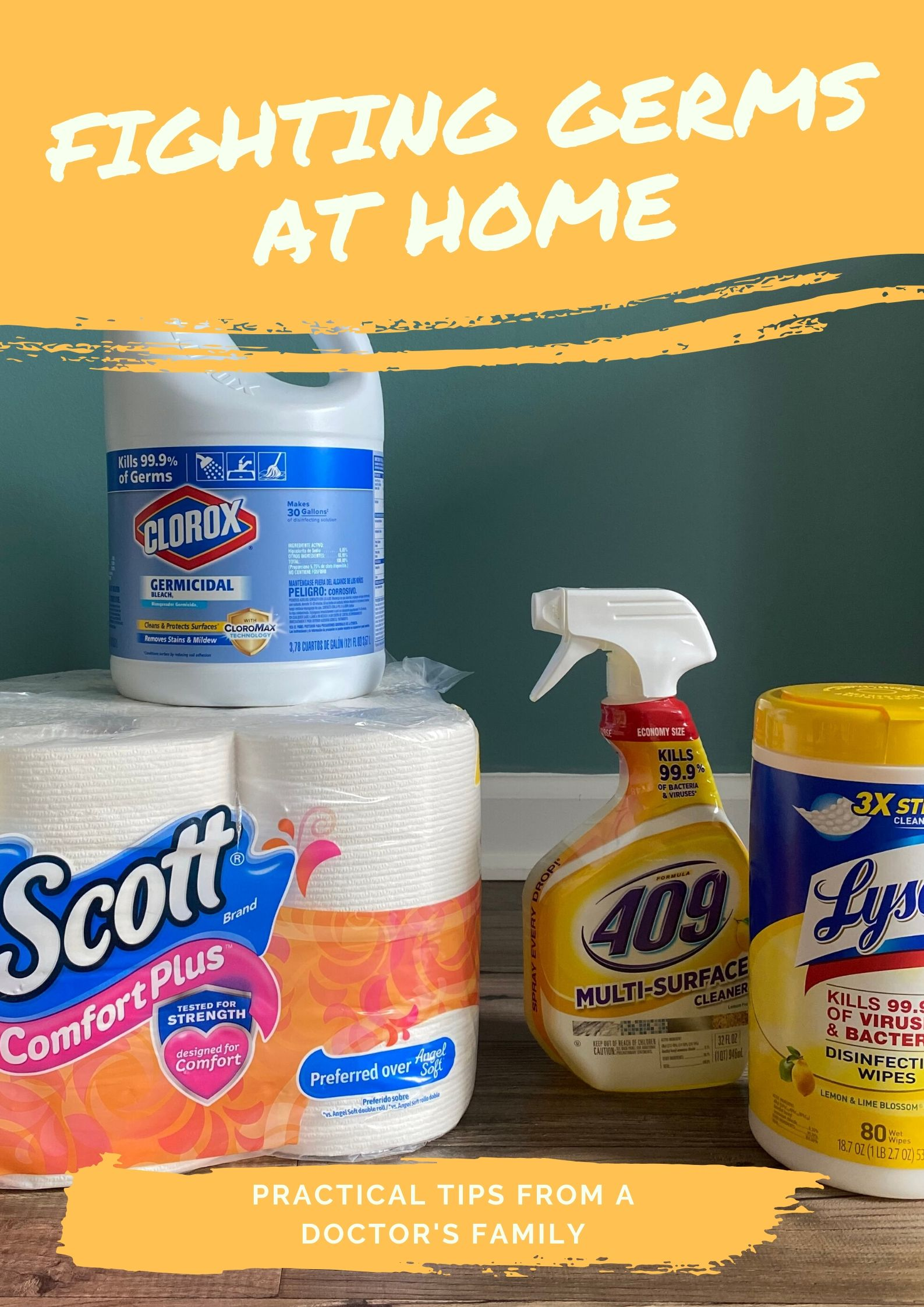 Wondering how to fight germs at home? Worried about viruses or how to keep the kids healthy? I've been married to a family doctor for 30 years -- and we rarely get sick. This is what we do to keep germs at bay in our house. I hope these practical tips help you!
