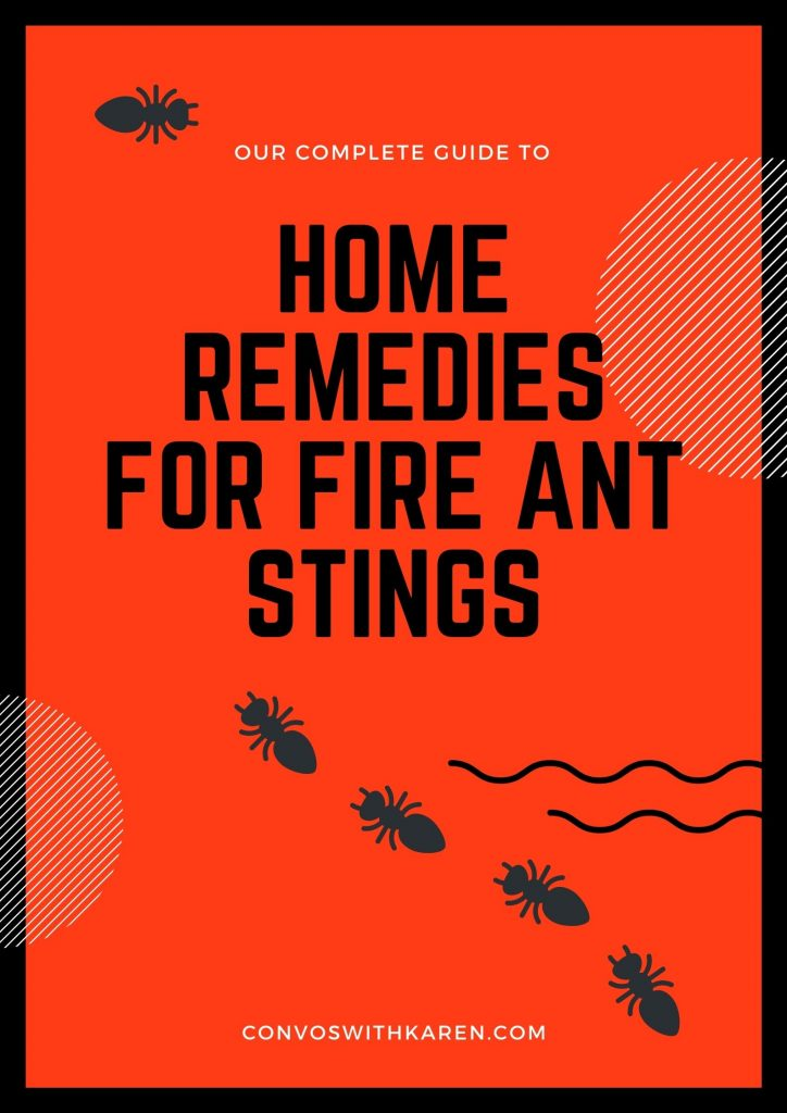 best home remedies for fire ant bites